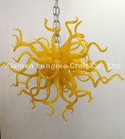 Wholesale designer for home decor resale online - Contemporary Type and Energy Saving Light Source Chandelier for Home Decor Small and Cheap Price Yellow Color Designer Chandelier Lighting
