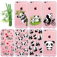 Transparente Matt Hard PC / Soft TPU Nette Cartoon Tier Panda Tasche für iPhone 5 5S SE 6 6S 7 Plus iPhone7