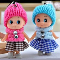Wholesale Cheap Rubber Toys - 2017 new Kids Toys Dolls Soft Interactive Baby Dolls Toy Mini Doll For Girls High quality cheap gift free shipping