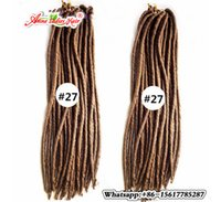 "Wholesale Braid Fire - 18""(45cm) Pure Color Black Dreadlocks Synthetic Hair Extensions Crochet Hair Braids China 120g 24Roots Fire Resistance"