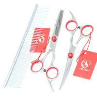 Barato Melhores Tesouras De Desbaste-6.0Inch New Meisha Best Hot Cutting Thinning Curved Dog Shears Professional Pet Grooming Scissors Set Pet Scissors Clippers, HB0001
