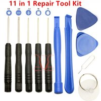 Wholesale Screw Phone - 11 in 1 Screw Driver Tool Kits Cell Phone Repair Tools Set For iPhone iPad Samsung HTC Sony Motorola LG Blackberry free DHL