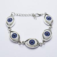 Wholesale Tennis Bracelet Cheap - Fashion Women Bracelets & Bangles Gold&silver Plated Chain Bracelet Evil Eye Punk Bracelet Jewelry Cheap jewelry