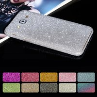 Wholesale pink glitter vinyl - for Samsung S8 Cover Full Body Glitter Vinyl Sticker Phone Decal for Samsung Galaxy S8 Plus S6 S7 EDGE Case Bling Diamond Decals