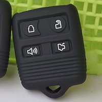 Wholesale Mercury Key Fob - Silicone key fob cover case protected FOR Ford Explorer Focus Lincoln Mercury Grand Marquis Sable 4 buttons keyless entry repair