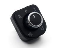 ayna jetta toptan satış-OEM Krom Yan Ayna VW Passat B6 3C Golf GTI MK5 MK6 Jetta MK5 Tavşan Tiguan 5ND 959 565 A için Kontrol Düğmeleri katlayın geçiş