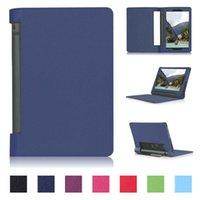 lenovo l achat en gros de-Vente en gros- Ultra Slim Litchi Grain Folio Stand Couverture En Cuir Magnétique Smart Sleep Wake Case Pour Lenovo YOGA Tab3 850F YT3 850F / M / L Tablet