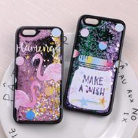 Wholesale Iphone Case Outer - Glitter Liquid Sparkle Outer Space Baseball Flamingo Star Jar Astronaut Dinosaur Cartoon Soft Case For iPhone 7 7Plus 6 6S 6Plus