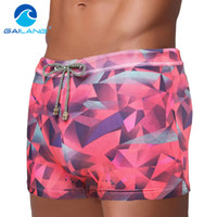 Wholesale Swimwear Men Enhancing - Wholesale- Gailang Brand Men Swimwear Swimsuits Swim Boxer Trunks Board Surfing Shorts Basic High Rise Pad Front Enhance Swimming Wear