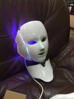 Wholesale dark neck mask resale online - 7 colors LED lights Photon Therapy Beauty Machine Skin Rejuvenation LED Facial Neck Mask facial whitening