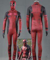 Wholesale female deadpool cosplay costume online - Deadpool jumpsuits cosplay halloween costumes