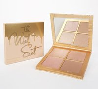 Wholesale Eyeshadow Mixed - In Stock Kylie Vacation The Wet Set with 4 Colors Bronzer & Highlighter Vacation Edition Illuminating Powder highlighters Eyeshadow Kit