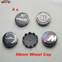 Wholesale Bmw Wheels - 68mm 2.68inch BLACK BASE 10PINS claw car Wheel Hub Emblem Cover Auto Wheel Center Logo Cap ABS Aluminum E60 E90 F10 F30 F15 E63 E64 E65 E86