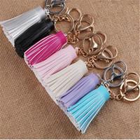 Wholesale tassel diy resale online - Fashion DIY Tassel Keychain for Clutch And Handbag Women Key Chain Charms Bag Pendant Car Keyring Holder Retro Jewelry Accessories