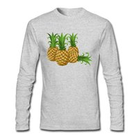 Wholesale Pictures Pineapples - 2017 Wholesale Men T Shirt Pineapples Picture Printed Man Shirt Plus Size Four Colors Choose Shirt
