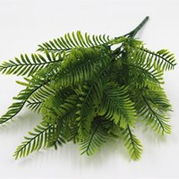 Wholesale Free Thanksgiving Decorations - HOT Artificial Flower Leaves Plants Pretty Fake Lifelike Plastic Persian Grass Lysimachia Fern floral decoration free shipping DHL