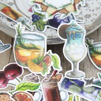 Wholesale Food Photos - Summer Cold Drink Food Biscuit Scrapbooking Stickers Decorative Sticker DIY Craft Photo Albums Decals Diary Deco