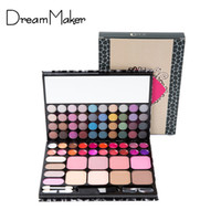 Wholesale Professional 72 Eyeshadow Palette - Wholesale-Professional 72 Color Eyeshadow Makeup Palette with Nuetral Lip Gloss and Trimming+Brush Combination Makeup Set Leopard Case