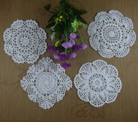 "Wholesale Handmade Crocheted Tablecloths - Wholesale- handmade crocheted doilies Vintage White flower Square Tablecloth Wallpapers coaster 8"" 20cm, Per design 5Piece ,20pcs LOT"