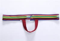 Wholesale Ring Thong Briefs - WJ Gay Thongs Sexy Men Underwear Cockring T-back Rings Gay Bikini Briefs Exotic Lingerie G-Strings