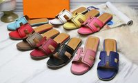 Wholesale Laser Aa - Yuf25 Summer Beach Eyelet Laser Cut Pointed Design Genuine Leather Cowskin Fashion Casual Loafers Flat Slippers Sandals Women Shoes Sz 34-42