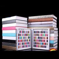 Wholesale Display Color Chart - Professional Model 216 Colors Nail Gel Polish Color Display Card Book Dedicated Card Chart Nail Art Tools With 226 False Nail