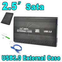 "Wholesale external case enclosure - Wholesale- 2.5"" HDD Enclosure 2.5 inch USB 3.0 to HDD Case Hard Drive Disk SATA External USB 3.0 Storage Enclosure aluminium Box"