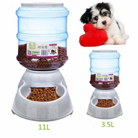 Wholesale Dog Automatic Feeding - Wholesale Large Automatic Plastic Pet Dog Cat Feeder Dish Food Bowl Dispenser Portion Control Pet Puppy Kitten Feeding Tools 3.5L
