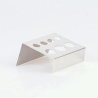 bardaklar için paslanmaz çelik tutacaklar toptan satış-Dövme Mürekkep Kupası Tutucu Standı Delik Paslanmaz Çelik Gümüş Renk Malzemeleri Pigment Aksesuar Bardak Tutucu IA305
