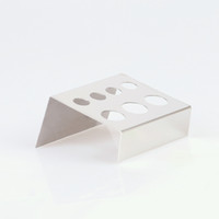 ingrosso supporto tazze tazze-Supporto per tazza per inchiostri per tatuaggi Fori per stand in acciaio inox Accessori per colori argento Pigmento Accessorio per tazza IA305