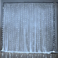 Wholesale Led Running Lights Pure White - WIDE 3m xHIGH 6m Christmas Wedding Party Background Holiday Running Water Waterfall Water Flow Curtain LED Light String