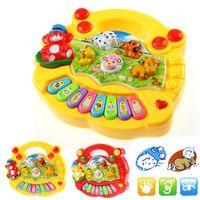 Wholesale Music Piano Animal Farm - 2017 New Baby Kids Musical Educational Animal Farm Piano Developmental Music Toy Gift