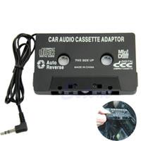 fita de dvd para carros venda por atacado-Adaptador de Transmissor de Cassetes de Fita Cassete Carro Universal de Áudio Preto PARA MP3 CD MD DVD Para Música de Som Claro