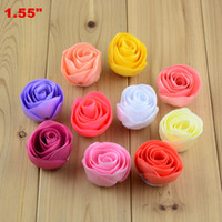 Wholesale Wholesale Fabric Flower Embellishments - Free Shipping 30pcs lot Craft DIY Tulip Flowers for making Bouquet Wedding Party Embellishments, Fabric Flower without Clip Headbands H0207