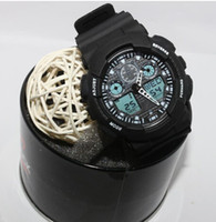 Wholesale Tin Watch Boxes - 1pcs with tin box, relogio classic men's sports watches, LED chronograph wristwatch, military watch, digital watch, good gift for men