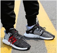 Wholesale Best Leather Coats - Best Seller New Overkill x Consortium EQT 93-17 Boost Support Future Coat of Arms Pack Men women black sports shoes Running Sneakers