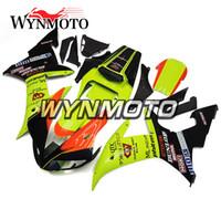 yamaha yzf r1 plásticos al por mayor-Carenado Kit Glossy Green Orange Motorcycles Carrocería completa para Yamaha YZF1000 R1 YZF 1000 2002 2003 02 Inyección de kits de cuerpo de plástico ABS
