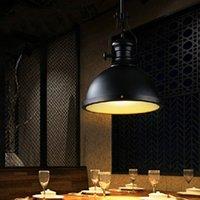 iluminación industrial vintage europa al por mayor-Loft Lámpara Colgante Vintage E27 Aluminio Hierro Retro Norte de Europa Industrial Estilo Edison Luces Colgantes lámpara colgante individual