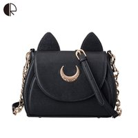 Wholesale Cell Vega - Wholesale- Hot Fashion Style Bags Famous Design Luna Women Messenger Bag Samantha Vega Sailor Moon Bag Handbags Cat Shoulder Bags BS550