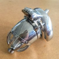 chastity cage men sale NZ - Hot Sale Male Bondage Cock Cage With spikes anti-off ring lock design device stainless steel male chastity devices sex toy for men