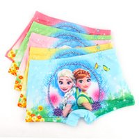 Wholesale Wholesale Christmas Underwear - Frozen sofia princess cartoon cotton underwear shorts panties baby clothes Christmas gifts hot