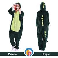 Wholesale Dragon Onesie Adult - Helloween design costume animal onesie pajamas adult cosplay dragon costume for sale