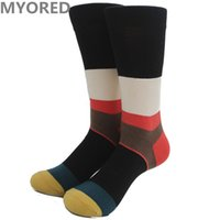 Wholesale Colored Cotton Socks Women - mens long colorful happy socks spell stripes color USA and europe style harajuku printing women colored socks 100pc DHL free shipping