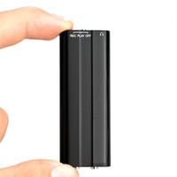 Wholesale Mini Clip Mp3 4gb - New Arrival Mini Clip USB Pen 4GB Voice Activated Digital Audio Voice Recorder Mp3 50hours Recording Retail Box