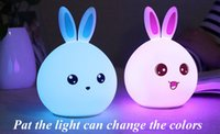 Lovely Rabbit Light Lamp Changement de couleur LED Lamp Colorful Night Lights Baby Sleeping Home Deco DHL gratuitement