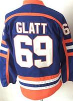 Wholesale Color 69 - 16 17 New Style 69 Doug Glatt The Thug Halifax Highlanders GOON Movie Vintage Doug Glatt Ice Hockey Jerseys For Sport Fans Team Color Blue