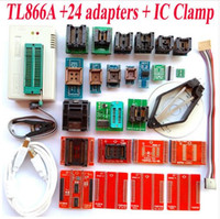 Wholesale Programmer Avr - 100% Original TL866A programmer +24universal adapters + IC test Clamp PLCC Extractor TL866 AVR PIC Bios 51 MCU EPROM Programmer