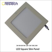 Wholesale slim down light - Toilet home office kitchen bedroom using commerical light 3W 6W 9W 12W LED Ceiling Panel Down Lights Bulb Slim Lamp Fixture