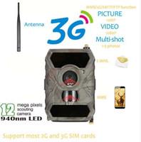 avcılık gece görüş kameraları toptan satış-S880G 12MP HD 1080 P Dijital Avcılık Kamera 940NM Trail Oyunu Kamera 3G Ağ SMS / MMS Gece Görüş 56 adet IR LED