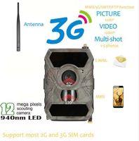 kamerafilme großhandel-S880G 12MP HD 1080P Digital Jagd Kamera 940NM Trail Spiel Kamera 3G Netzwerk SMS / MMS Nachtsicht 56 stücke IR LED